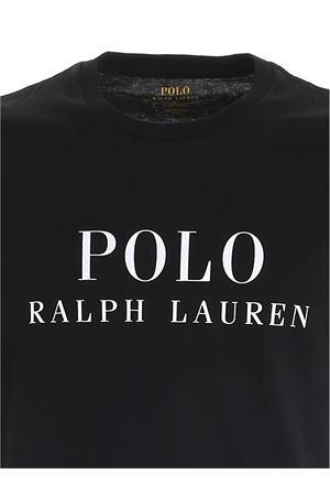 LETTERING LOGO PRINT T-SHIRT IN BLACK POLO RALPH LAUREN | 8 | 714830278007