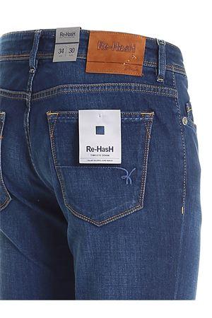 LOGO LABEL JEANS IN BLUE RE-HASH | 24 | P015302700DCBLUE