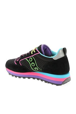 JAZZ TRIPLE BLACK SNEAKERS WITH NEON DETAILS SAUCONY | 5032238 | 605681