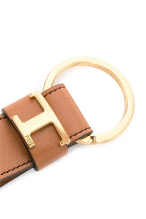 KEY RING IN BROWN LEATHER TOD