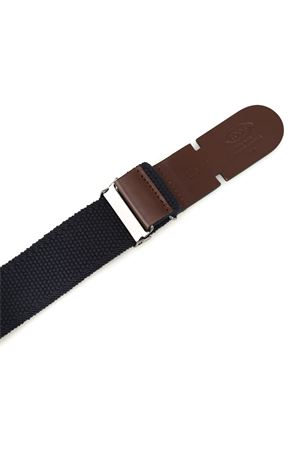 BELT IN CANVAS AND BLUE LEATHER TOD