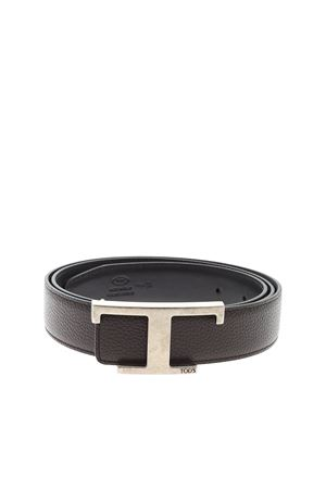 BROWN LEATHER BELT TOD