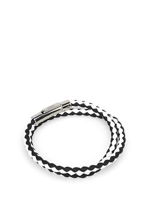 MYCOLORS BRACELET IN BLACK AND WHITE LEATHER TOD