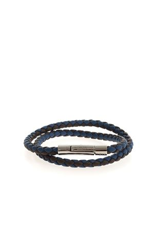 WEAVE BRACELET IN BLUE AND BROWN TOD