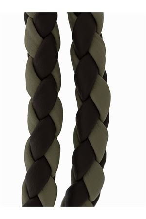 MYCOLORS LEATHER BRACELET - GREEN, BROWN TOD