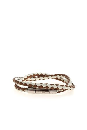 WEAVE BRACELET IN BROWN AND WHITE TOD