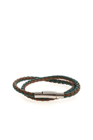 MYCOLORS LEATHER BRACELET - GREEN AND BROWN TOD