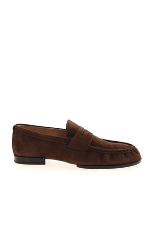 LOAFERS IN SUEDE - BROWN TOD