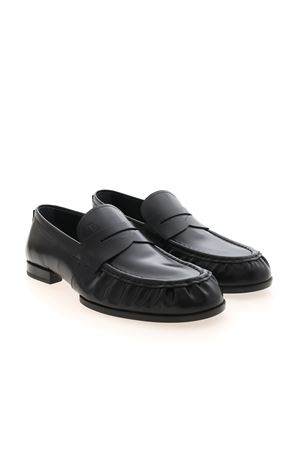 LOAFERS IN LEATHER - BLACK TOD
