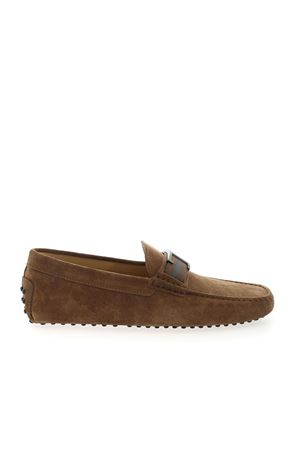 TIMELESS MOCCASIN GOMMINO IN BROWN SUEDE LEATHER TOD