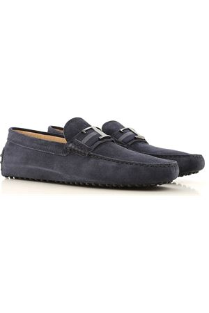 GOMMINO MOCASSINO TIMELESS IN PELLE SCAMOSCIATA BLU XXM0GW0CT50RE0U805 TOD