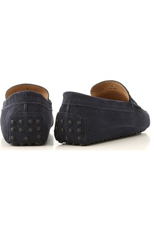 TIMELESS LOAFERS GOMMINO IN BLUE SUEDE LEATHER TOD