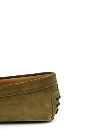 GREEN SUEDE LOAFERS TOD