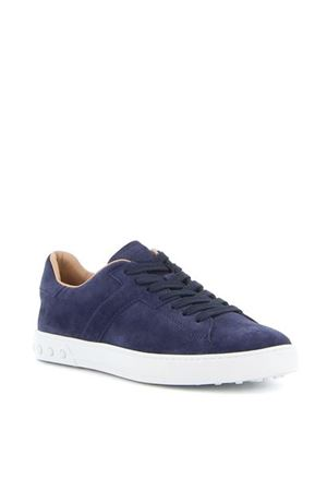 SUEDE LACE-UP SNEAKERS IN BLUE TOD