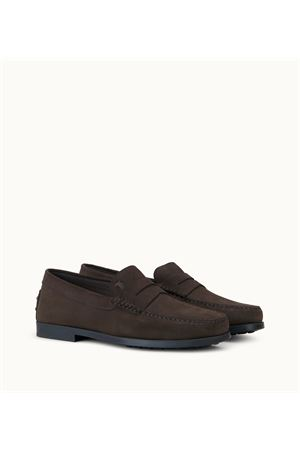 LOAFERS  IN BROWN SUEDE LEATHER TOD