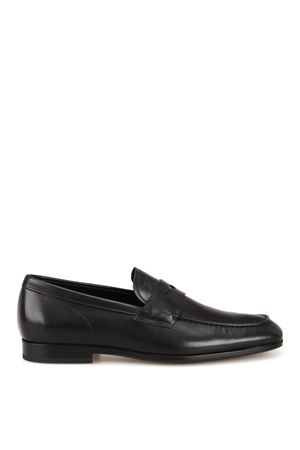 LOAFERS IN BLACK LEATHER  TOD