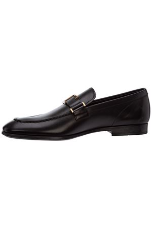 TIMELESS LOAFERS IN LEATHER - BLACK TOD