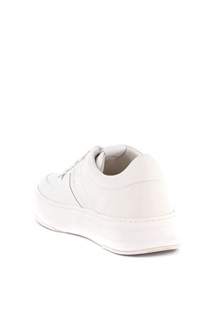 WHITE LEATHER SNEAKER TOD