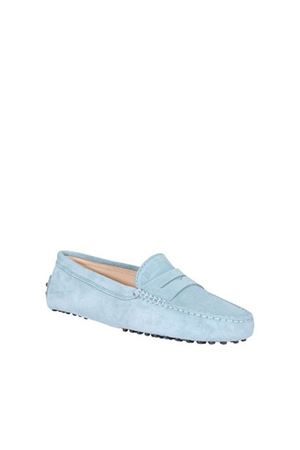 LIGHT BLUE SUEDE LOAFERS TOD