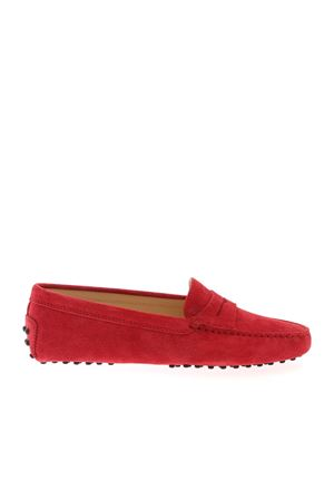 GOMMINO MOCASSINO IN PELLE SCAMOSCIATA ROSSA XXW00G00010RE0R411 TOD