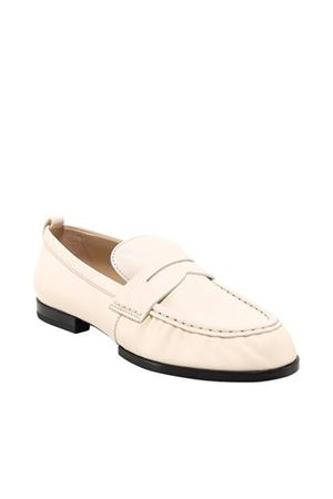 SUEDE LOAFERS IN WHITE TOD