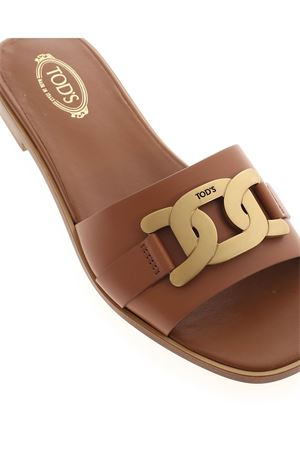 BROWN LEATHER SANDAL TOD