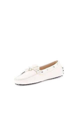 HAMMERED LEATHER DRIVING LOAFERS TOD
