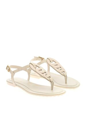 BUCKLE SANDALS IN WHITE TOD