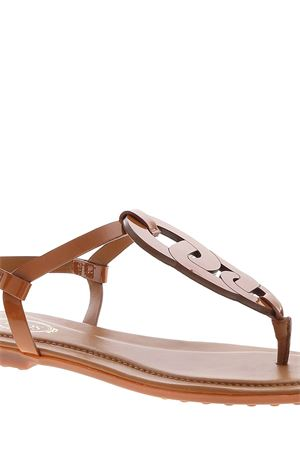 BUCKLE SANDALS IN BROWN TOD