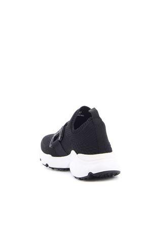 TECH FABRIC SLIP ON SNEAKERS IN BLACK TOD