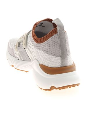 SNEAKERS IN HIGH-TECH FABRIC - WHITE AND GREY TOD