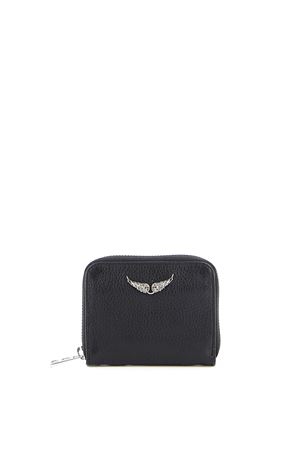 MINI ZV PURSE IN HAMMERED LEATHER ZADIG&VOLTAIRE | 10000009 | PWGAP4001FNOIR