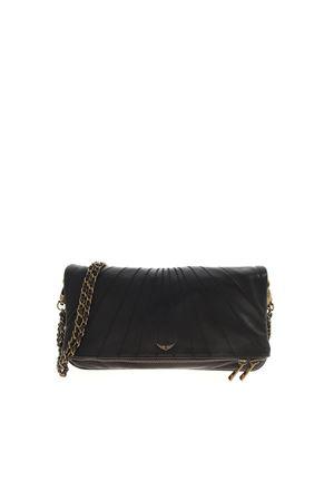 SHOULDER STRAP CLUTCH BAG IN BLACK ZADIG&VOLTAIRE | 10000014 | SKAB2011FNOIR