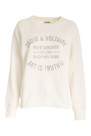 LOGO SWEATSHIRT IN WHITE