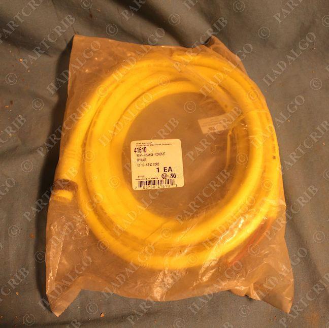 Brad Harrison 41610 Mini-Change Cordset 6P Male 12/' 16-6 PVC Cord Woodhead NEW