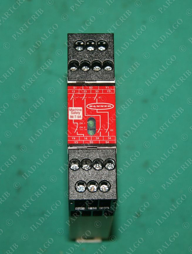 Banner, IM-T-9A, 61425, Interface Module Relay Safety Interlock NEW on