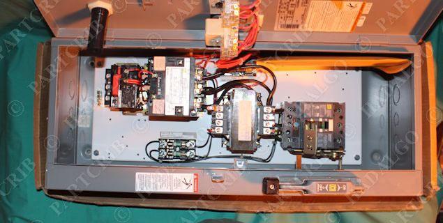 Square D 8539SDG42V81CFF4H301P21T11 Combination Motor Starter Enclosure  Size 2