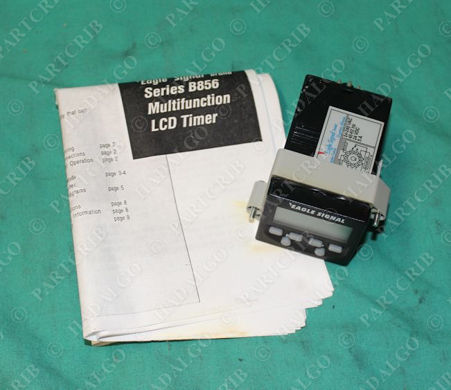 Danaher, B856-511, Eagle Signal LCD Timer Instantaneous