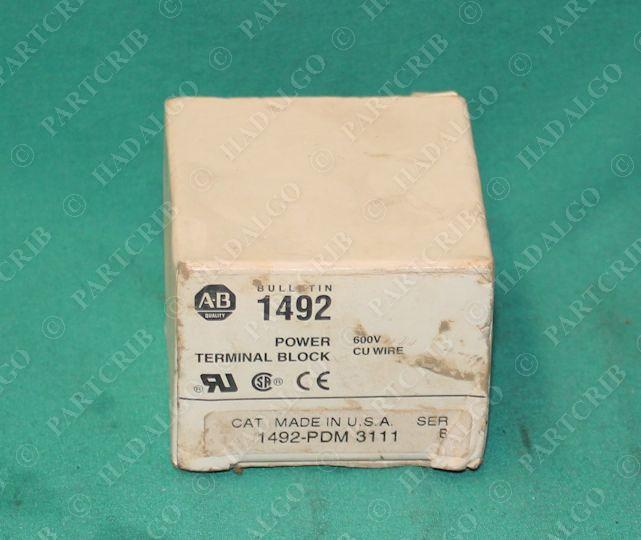 Allen Bradley, 1492-PDM-3111, Terminal Wiring Power Block 600V NEW ...