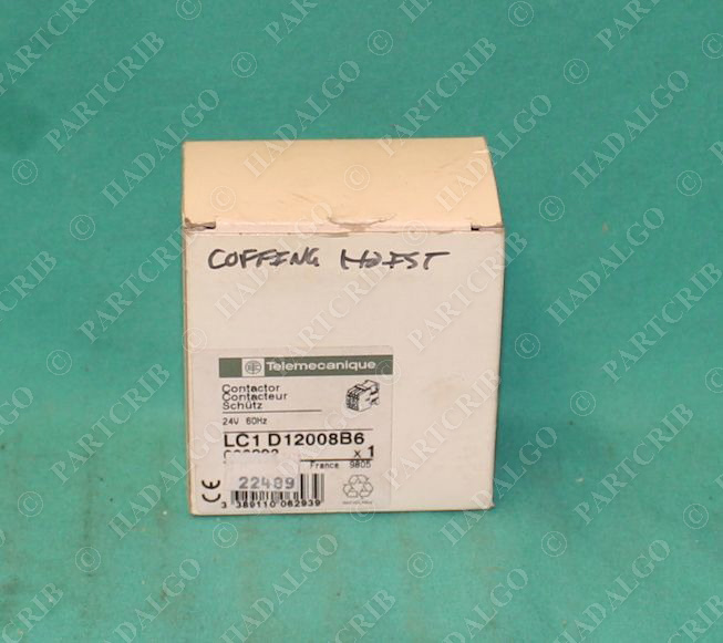 Telemecanique, LC1 D12008B6, LC1-D12008-B6, Relay Starter Contactor 24V NEW