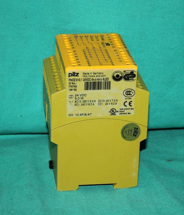 Pilz Sicherheitsrelais PNOZ X10.1 24VDC 6n//o 4n//c 6LED Id.No. 774749