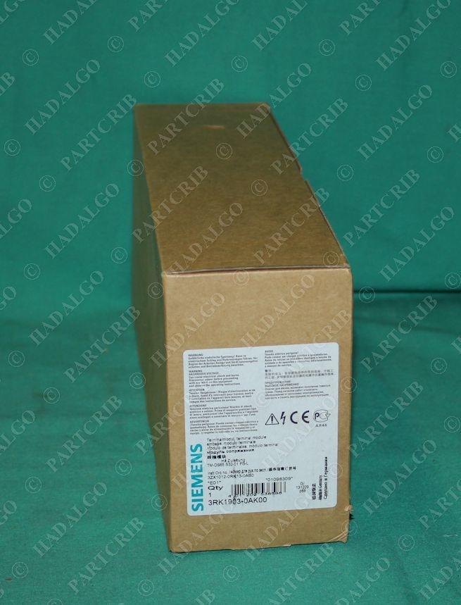 Siemens, 3RK1903-0AK00, Terminal Module Contactor Motor Overload Relay  Starter Block Termination