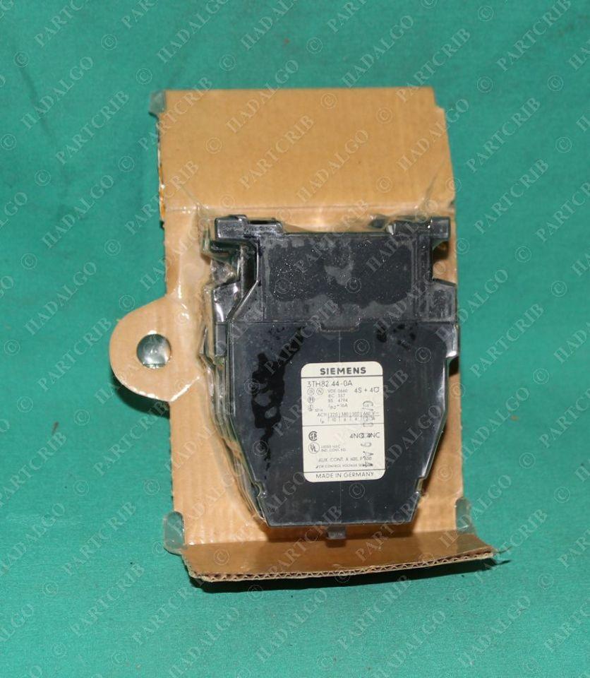 3TH82 44-0AK6 Contactor Relay Starter 120v 60hz 110v 50hz 4NO 4NC Siemens