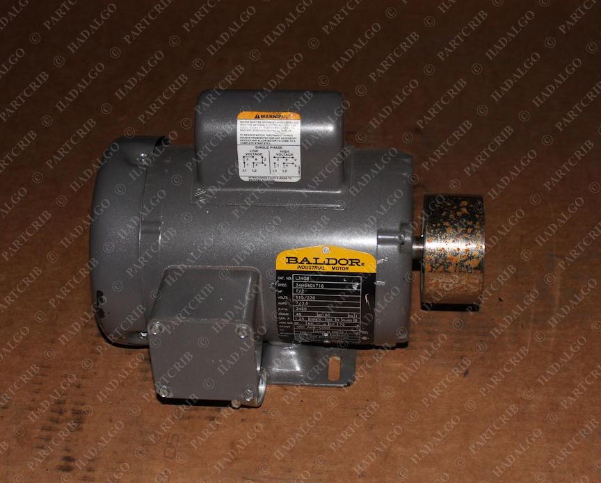Baldor, L3408, 34H640X716, Motor 1/2 .5hp 115/230v 3450rpm 48 frame