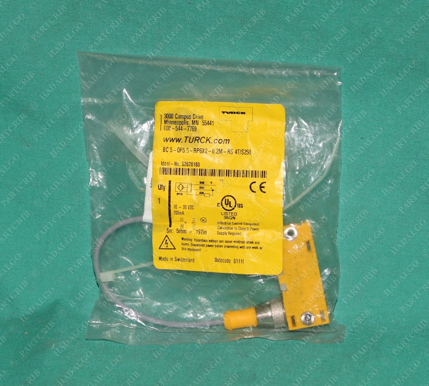 Turck, BC 5-QF5.5-RP6X2-0.2M-RS 4T/S250, S262018, Capacitive Sensor Proximity Switch