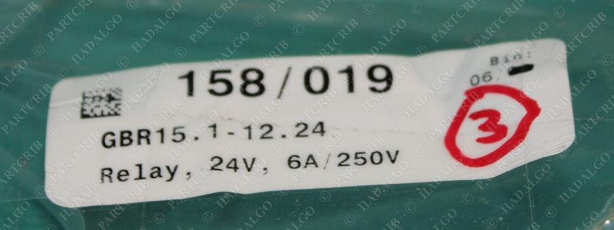 RGI, GBR15.1-12.24, Power Relay 6A/250V