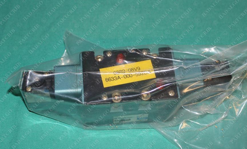 Mac, 6633A-000-PM-592DA, Pneumatic Air Solenoid Valve Manifold
