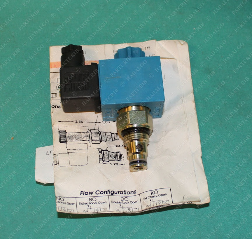 ED-I, 161000, 311837, SB40-DC-12H, Double Lock Closed Valve replacement Cartridge Integrated