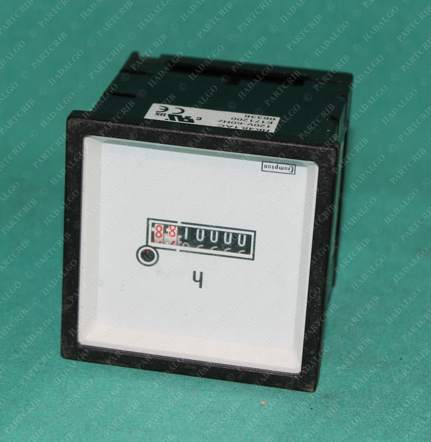 Crompton, M243-156-G-PL-ZH-C6, Hour Timer Counting Counter Panel Meter