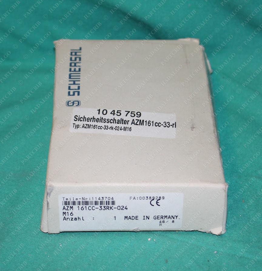Schmersal, AZM 161CC-33rk-024-M16, AZM161CC-33rk-024-M16, 1143704, Safety Interlock Switch Relay